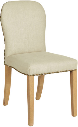 OKA Stafford Linen Dining Chair - Natural