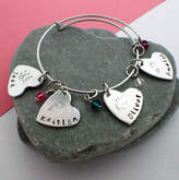 Infinity Keepsakes Reasons I Love You Bangle With Birthstones For Mum