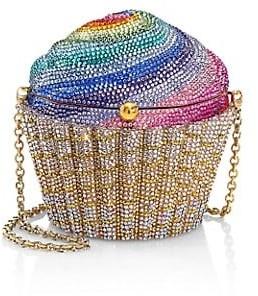 Judith Leiber Rainbow Cupcake Crystal Clutch