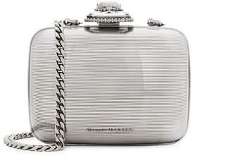 Alexander McQueen Silver-tone Mini Cross-body Bag