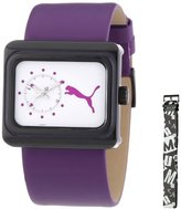 Puma Time Women's Quartz Watch Change Purple PU102442002 with Leather Strap