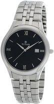 Titan Men's 1494SM03 Contemporary Silver Metal Strap Watch