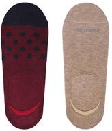 Etiquette Clothiers No Show Uni and Polka Dots Ped Socks (2 PK)