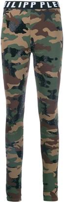 Philipp Plein Camouflage Leggings