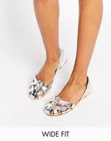 Asos JUGGLER Wide Fit Leather Summer Shoes