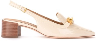 Tory Burch Decollete Model Jessa In Ivory-colored Paint