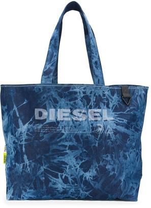 Diesel Logo Tie-Dye Shopper Tote