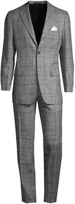 Kiton Plaid Wool Suit