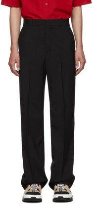 Burberry Black Wide Leg Trousers