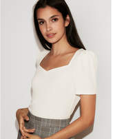 Express sweetheart neck puff shoulder tee