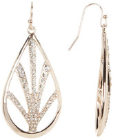 Jessica Simpson Dangling Embellished Teardrop Earrings