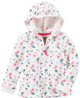 Osh Kosh Floral French Terry Hoodie