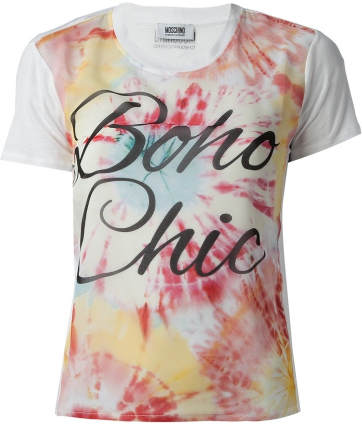 Moschino Cheap & Chic boho chic print t-shirt