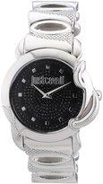Just Cavalli Women's R7253576502 Eden Round Stainless Steel Pave Dial Watch