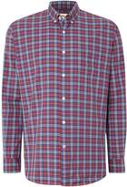 Tm Lewin Poplin Graph Check Button Down Shirt
