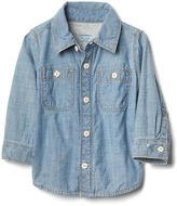 Gap Jersey-lining chambray shirt