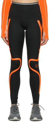 adidas by Stella McCartney Black and Orange TruePace Long Tights