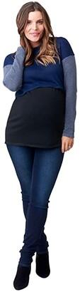 Nom Maternity Sia Maternity + Nursing Tunic Sweater (Navy Color-Block) Women's Clothing