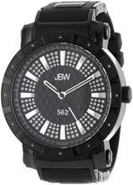 "JBW Men's JB-6225-K ""562"" Pave Dial Diamond Rubber Band Watch"