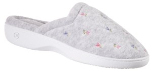 Isotoner Signature Isotoner Women's Embroidered Floral Terry Clog Slippers with Memory Foam