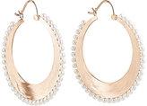Irene Neuwirth Women's Akoya Pearl & Rose Gold Hoop Earrings