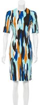 Jonathan Saunders Abstract Print Knee-Length Dress
