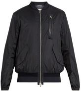 Oamc Lightweight shell leather-trim bomber jacket