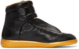 Maison Margiela Black & Orange Future High-Top Sneakers