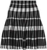 Apricot Check Print Mini Skirt
