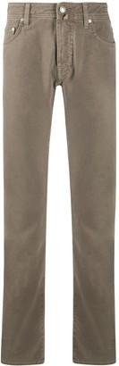 Jacob Cohen Mid Rise Straight Leg Jeans