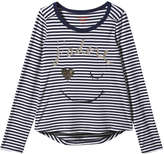 Joe Fresh Kid Girls' Stripe Sequin Tee, Red (Size L)