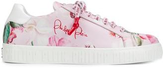Philipp Plein Floral Print Sneakers