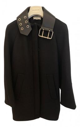 Balenciaga Black Wool Coats