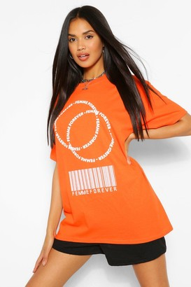 boohoo Femme Forever Graphic T-Shirt