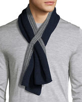 Loro Piana Denver Shorty Cashmere Contrast-Border Scarf