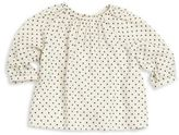 Bonpoint Baby's Long Sleeve Dotted Blouse