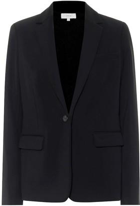 Vince Single-breasted crepe blazer