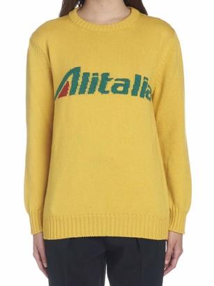Alberta Ferretti Alitalia Intarsia Knit Sweater