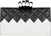 Alexander McQueen Skull Four Ring Quilted Clutch