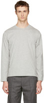 Comme des Garcons Grey Long Sleeve Basic T-shirt