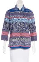 Bogner Printed Button-Up Top
