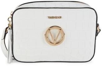 Mario Valentino Babette Croc-Embossed Leather Camera Bag