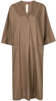 Lee Mathews V-Neck Trapeze Midi-Dress