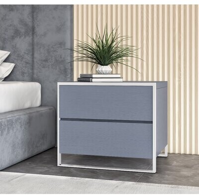 Thumbnail for your product : VIG Furniture Jolene 2 Drawer Nightstand in Gray Elm