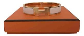 Hermã ̈S HermAs Clic H White Gold plated Bracelets