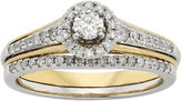 JCPenney MODERN BRIDE 1/2 CT. T.W. Diamond 10K Two-Tone Gold Milgrain Bridal Ring Set