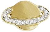 Sydney Evan Pave Diamond Saturn Single Stud Earring