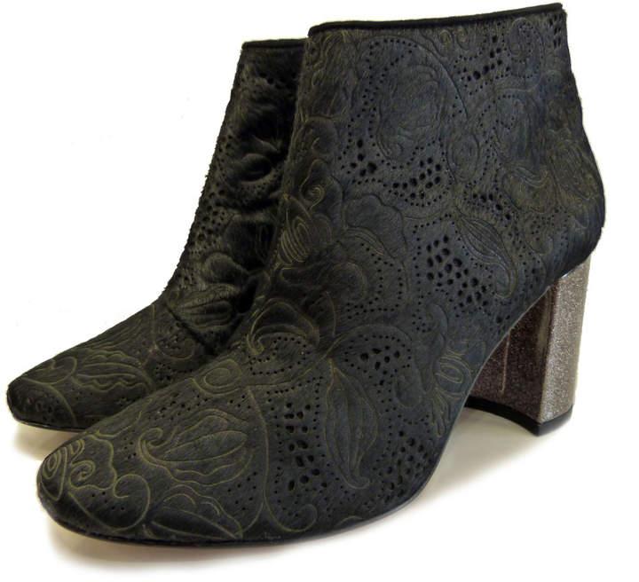50387ff0 Lucy Choi London - Lucy Choi London Zetter Black Pony Hair Ankle Boot -  EU36.5 (UK3.5) - Black