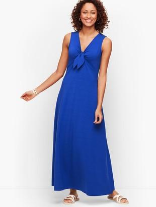 Talbots Jersey Tie Front Maxi Dress