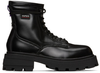Eytys Black Leather Michigan Boots